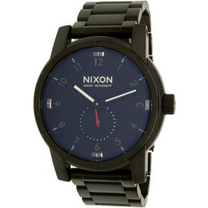 Nixon Men's Patriot A937001 Black Stainless-Steel Swiss Quartz Watch