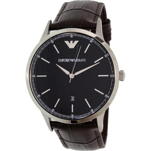 Emporio Armani Men's Renato AR2480 Brown Leather Japanese Quartz Fashion Watch