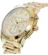 Michael Kors Women's Cooper MK6274 Gold Stainless-Steel Quartz Watch - Side Image Swatch