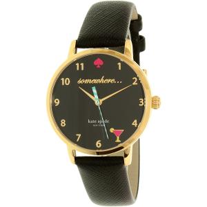 Kate Spade Women's Metro KSW1039 Black Leather Quartz Watch