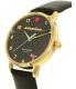 Kate Spade Women's Metro KSW1039 Black Leather Quartz Watch - Side Image Swatch