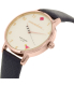 Kate Spade Women's Metro KSW1040 Rose Gold Leather Quartz Watch - Side Image Swatch