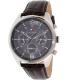 Tommy Hilfiger Men's 1791184 Silver Leather Quartz Watch - Main Image Swatch