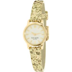 Kate Spade Women's Eldridge KSW1011 Gold Leather Quartz Watch