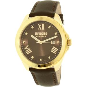 Versus by Versace Women's Elmont SBE020015 Brown Leather Quartz Watch