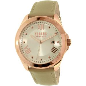 Versus by Versace Women's Elmont SBE030015 Beige Leather Quartz Watch