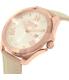 Versus by Versace Women's Elmont SBE030015 Beige Leather Quartz Watch - Side Image Swatch
