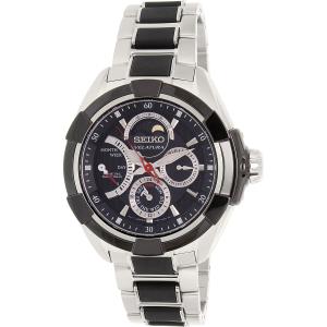 Seiko Men's Velatura SRX009 Black Stainless-Steel Seiko Kinetic Watch