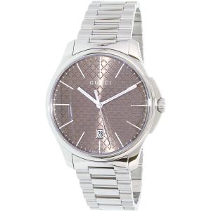 Gucci Women's G-Timeless YA126317 Silver Stainless-Steel Swiss Quartz Watch