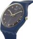 Swatch Men's Originals SUON116 Blue Silicone Swiss Quartz Watch - Side Image Swatch