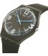 Swatch Women's Originals GB292 Black Silicone Swiss Quartz Watch - Side Image Swatch
