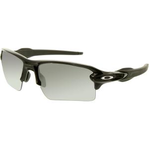 Oakley Men's Polarized Flak 2.0 OO9188-08 Black Rectangle Sunglasses