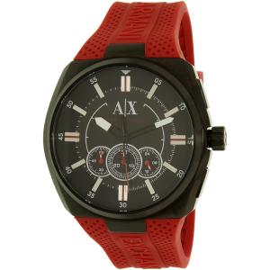 Armani Exchange Men's AX1803 Black Silicone Quartz Watch