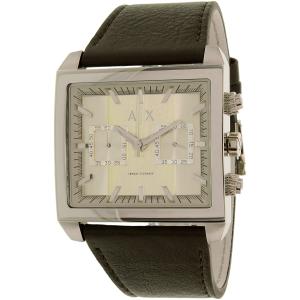 Armani Exchange Men's AX2224 Silver Leather Quartz Watch