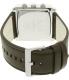 Armani Exchange Men's AX2224 Silver Leather Quartz Watch - Back Image Swatch