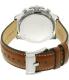 Fossil Men's Dean FS5130 Silver Leather Quartz Watch - Back Image Swatch