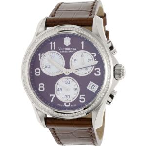 Victorinox Swiss Army Women's 241420 Brown Leather Swiss Chronograph Watch