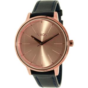 Nixon Women's Kensington A1082160 Rose Gold Leather Quartz Watch