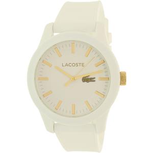 Lacoste Men's 2010819 White Silicone Analog Quartz Watch