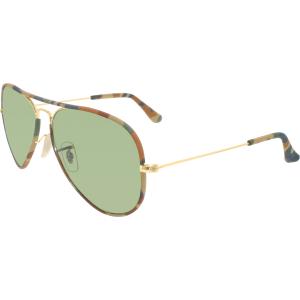 Ray-Ban Women's Aviator RB3025JM-168/4E-58 Multicolor Aviator Sunglasses