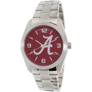 Gametime Men's Elite Alabama Crimson Tide COL-ELI-ALA2 Silver Stainless-Steel Quartz Watch