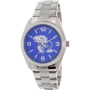 Gametime Men's Elite Kansas Jayhawks COL-ELI-KAN Silver Stainless-Steel Quartz Watch