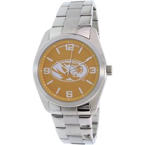 Gametime Men's Elite Missouri Tigers COL-ELI-MO Silver Stainless-Steel Quartz Watch