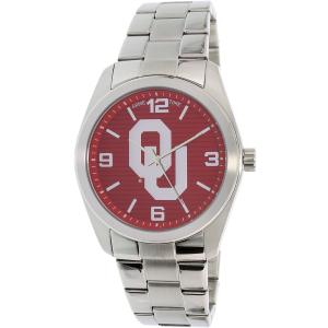 Gametime Men's Elite Oklahoma Sooners COL-ELI-OK Silver Stainless-Steel Quartz Watch