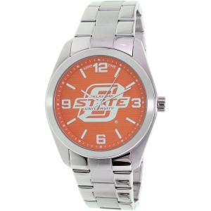 Gametime Men's Elite Oklahoma State Cowboys COL-ELI-OKS Silver Stainless-Steel Quartz Watch