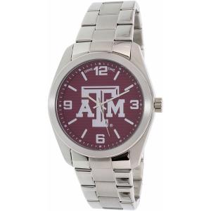 Gametime Men's Elite Texas A&M Aggies COL-ELI-TXA Silver Stainless-Steel Quartz Watch