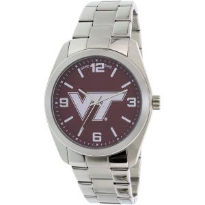 Gametime Men's Elite Virginia Tech Hokies COL-ELI-VAT Silver Stainless-Steel Quartz Watch