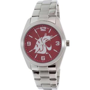 Gametime Men's Elite Washington State Cougars COL-ELI-WSU Silver Stainless-Steel Quartz Watch