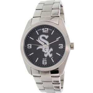 Gametime Men's Elite Chicago White Sox MLB-ELI-CWS Silver Stainless-Steel Quartz Watch
