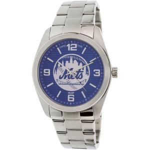 Gametime Men's Elite New York Mets MLB-ELI-NYM Silver Stainless-Steel Quartz Watch