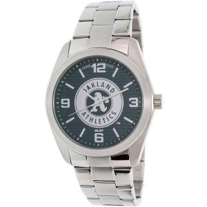 Gametime Men's Elite Oakland Athletics MLB-ELI-OAK Silver Stainless-Steel Quartz Watch