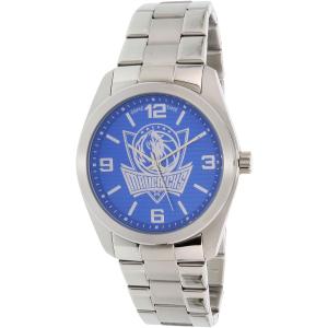 Gametime Men's Elite Dallas Mavericks NBA-ELI-DAL Silver Stainless-Steel Quartz Watch