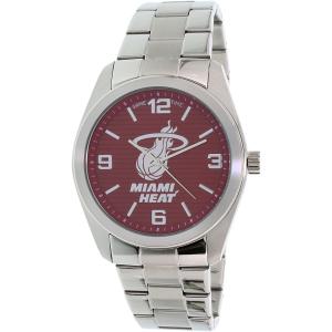 Gametime Men's Elite Miami Heat NBA-ELI-MIA Silver Stainless-Steel Quartz Watch