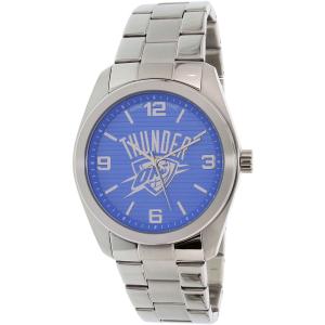 Gametime Men's Elite Oklahoma City Thunder NBA-ELI-OKC Silver Stainless-Steel Quartz Watch