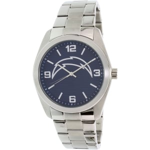 Gametime Men's Elite San Diego Chargers NFL-ELI-SD Silver Stainless-Steel Quartz Watch