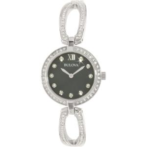 Bulova Women's Crystal 96L224 Silver Stainless-Steel Quartz Watch