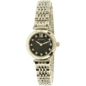 Bulova Women's Diamond 96P169 Silver Stainless-Steel Quartz Watch