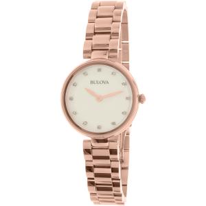 Bulova Women's Diamond 97P111 Rose Gold Stainless-Steel Quartz Watch
