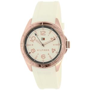 Tommy Hilfiger Women's Lizzie 1781636 White Rubber Quartz Watch