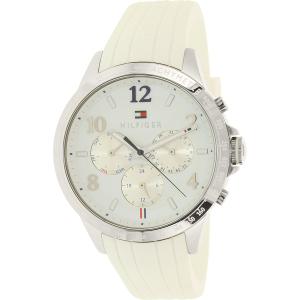 Tommy Hilfiger Women's Dani 1781646 White Rubber Quartz Watch