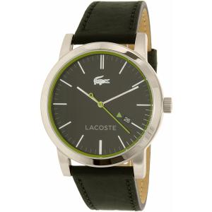 Lacoste Men's Metro 2010847 Black Leather Quartz Watch