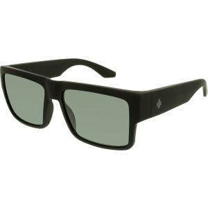 Spy Men's Polarized Cyrus 673180973864 Black Square Sunglasses