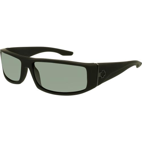 Spy Men's Polarized Cooper 670195973864 Black Wrap Sunglasse