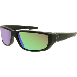 Spy Men's Polarized Dirty Mo 670937374861 Black Wrap Sunglasses