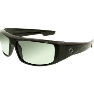 Spy Men's Polarized Logan 670939038864 Black Wrap Sunglasses