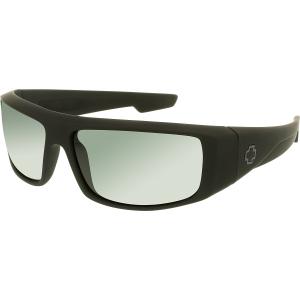 Spy Men's Polarized Logan 670939973864 Black Wrap Sunglasses